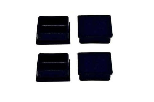 中量棚スチール棚専用のベースキャップ(黒色)